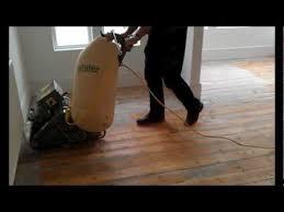 dust free floor sanding with a lagler hummel belt sander