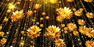gold flowers gold flowers background by as 100 videohive