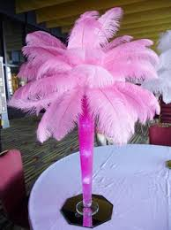 pink ostrich feather centerpiece for wedding decoration buy