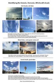 3 kinds of clouds chemtrails are satanic demonic witchcraft exposing the satanic