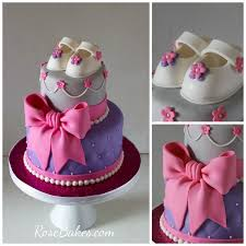 Pink And Purple Baby Shower Cakes Party Xyz
