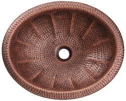 921 single bowl oval copper sink