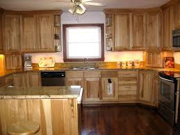 Solid Kitchen Cabinets Kitchen Agreeable Hickory Kitchen Cabinets Within Clean Yellowed