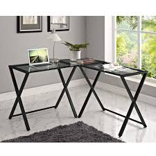 altra cruz glass top l shaped desk hayneedle