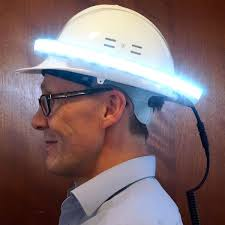 halo hard hat light see and be seen on the construction site with this innovation by