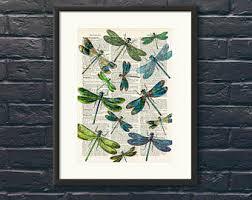 dragonfly wall decor etsy