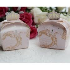 wedding candy favors royal crown pink chocolate box and wedding party favor candy box