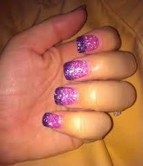 two toned acrylic nails glitter my style pinterest acrylic