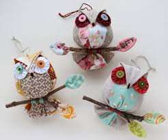 owl ornaments patchworkpottery owl ornaments