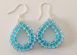 beginner earrings tear drop earrings craw beginner tutorial