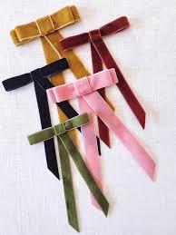 velvet ribbon diy velvet ribbon bow barrette