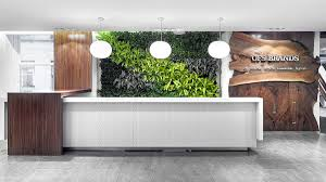 Office Furniture Reception Desk Counter by Ofs Brands Green Wall Waterfall Materials Reception Desk