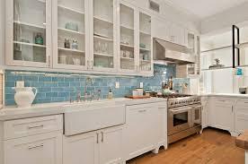 Blue Backsplash - Blue tile backsplash kitchen