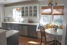 light gray painted kitchen cabinets