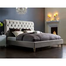 Abbyson Living Hamptons King Size Platform Bed by Tov Furniture Tov B21 Queen Putnam Queen Bed In Light Grey Tufted