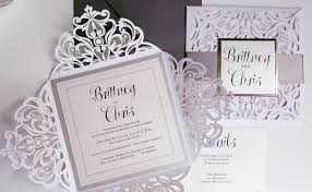 and white wedding invitations wedding invitations silver white wedding invitation