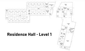 the residence hall osu cascades oregon state university first floor floorpan