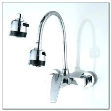 wall mounted kitchen faucet wonderful wall mount kitchen faucet with sprayer wonderful best