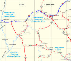 grand junction to moab raft trips map