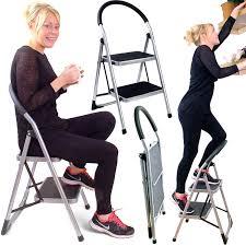 Fold Up Step Ladder by Innovative Creative Transforming Folding Fold Up Library Steps