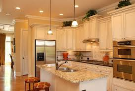 cabinets white l shape kitchen design two level kitchen island