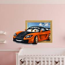 Sports Decals For Kids Rooms by 3d Kids Room Decoration Sports Car Wall Decals Boys Room Removable