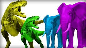 dinosaur elephant finger family dinosaurs for kids dinosaur king