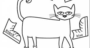 pete the cat at the coloring page archives cool coloring