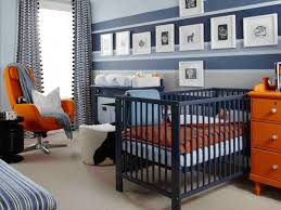 orange living room walls and blue bedroom white decor what color