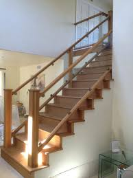 lowes banisters and railings interior contemporary stairs tigerwood treads plain wrought iron