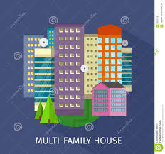 multi family house design flat stock vector image 63865128