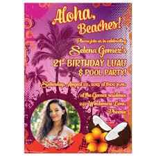 21st Birthday Invitation Card 21st Birthday Party Invitation Photo Hawaiian Luau