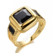 black sapphires rings images Buy size 10 jewelry chunky cz black sapphire wedding ring 14kt jpg