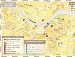 Maps Of Alaska by Downtown Fairbanks Map