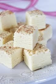 eggnog fudge baking beauty