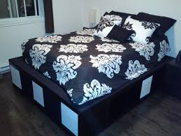 Ikea King Size Platform Bed Ikea Platform Bed Frame Queen With Storage Easy Of Beds Dubai Also