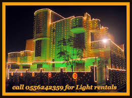 UAE National Day Light decoration Furniture & party Rentals Dubai