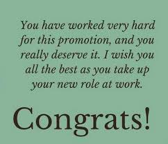 the best congratulations on promotion messages for co workers
