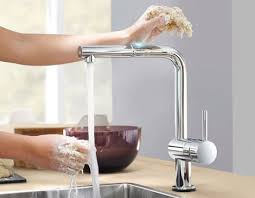 kitchen faucet touchless grohe minta touch pull kitchen faucet with touch technology