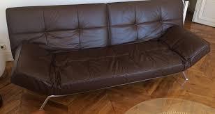 canape smala canapé convertible smala cinna cuir brun foncé cuir marron