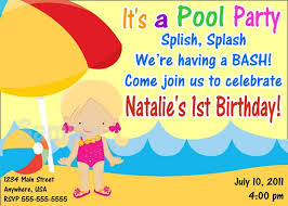 birthday pool party invitation wording images invitation design