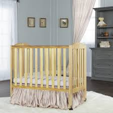 Foldable Baby Crib by Dream On Me 2 In 1 Folding Portable Crib Natural Babies