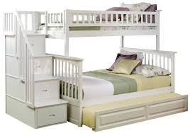 bedroom lovely white wooden bunk beds with stairs and drawers
