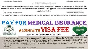 pay for medical insurance with visa fee