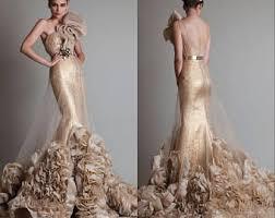 gold wedding dresses gold wedding dress etsy