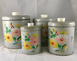 tin kitchen canisters ransburg canister etsy