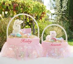 personalized easter basket liner pink paillette easter basket liners pottery barn kids