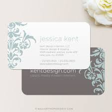 Business Cards Interior Design Bold Damask Business Card Calling Card Mommy Card