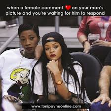 You Re The Man Meme - funny relationship love jealousy meme when a female comments on