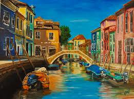 Burano Italy Burano Italy Painting By Elisa Arancibia